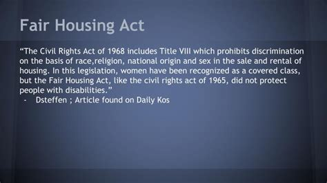 federal fair housing act ppt section 504 rehabilitation act 1973 powerpoint presentation id 6686271