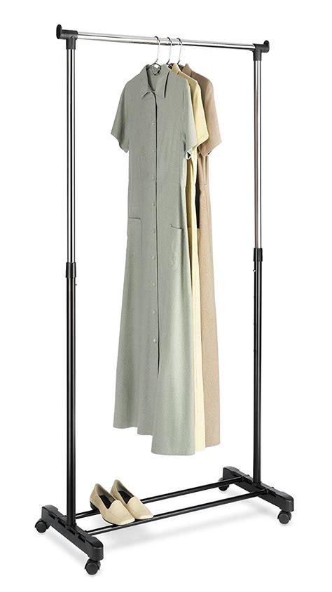 whitmor clothing rack rolling adjustable garment shirts