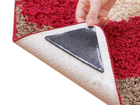 stop rug corners curling up rug grippers non slip prevents curled corners reuseable 8 pcs for floor bathroom ebay