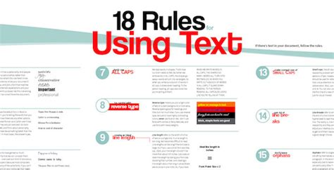 web design font rules infographic 18 rules for designing with text designtaxi com
