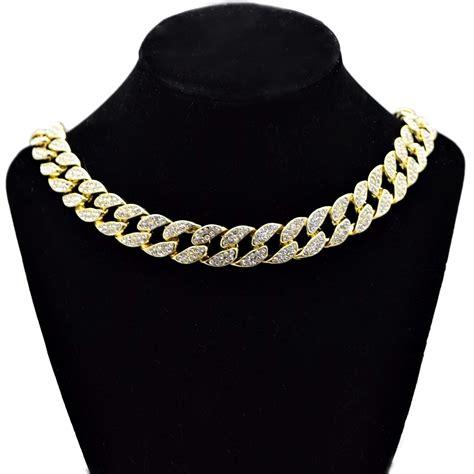 Chain Choker gold 18 quot cuban choker chain cuban chains