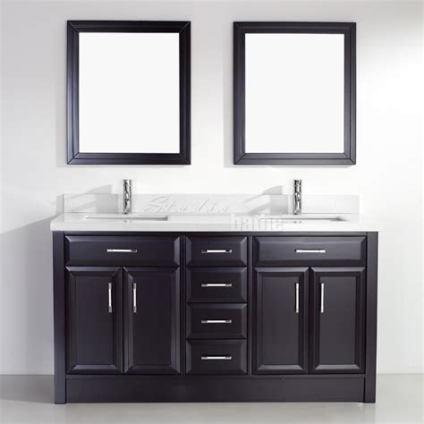studio bathe calais 63 inch espresso sink bathroom