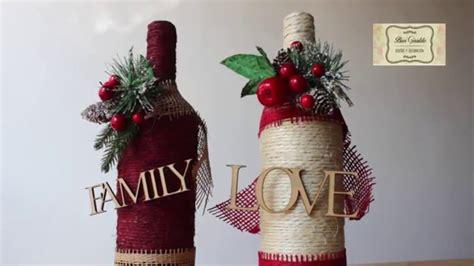 imagenes de navidad para decorar botellas manualidades para navidad botellas decoradas con cabuya