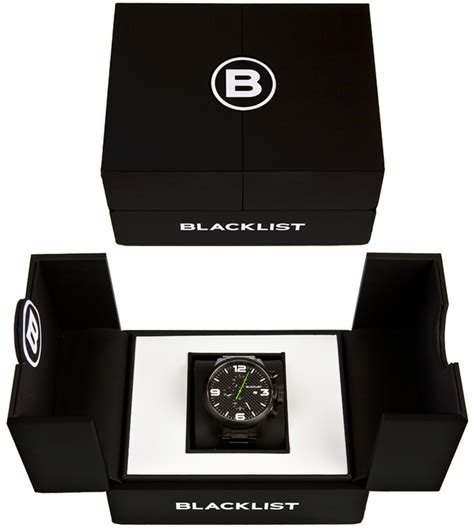 blacklist watches swiss made limited production