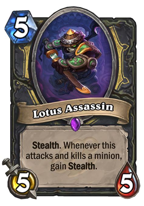 hearthstone stealth deck lotus assassin hearthstone card