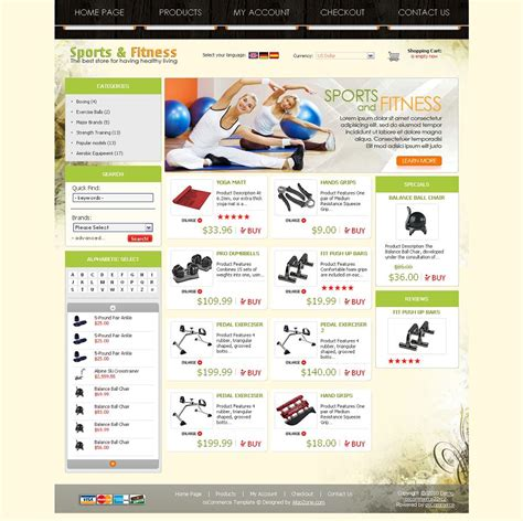 os04a00435 oscommerce template for sports fitness stores