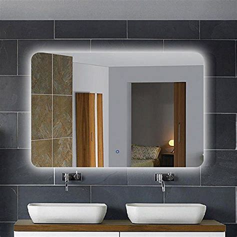 36 x 28 in horizontal led bathroom silvered mirror with best mirrors for bathrooms luxury 36 x 28 inch horizontal