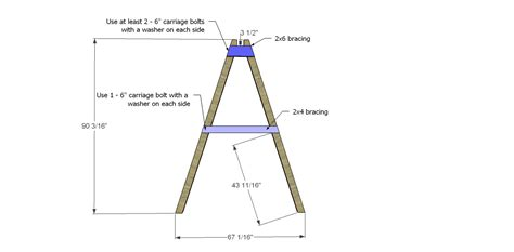 4x4 swing set plans free diy furniture plans how to build a swing a frame