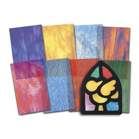Stained Glass Paper Craft - stained glass craft paper 24 sheets use with stained