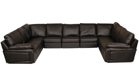 u shaped leather sectional buy luciano half leather u shape sectional sofa in dark
