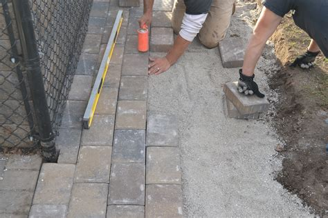 How To Cut Patio Pavers Paver Patio Installation How To Properly Install Your Paver Patio