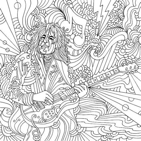 guitar coloring pages for adults 325 best music coloring pages for adults images on