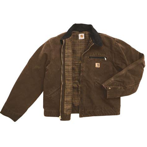 carhartt j97 blanket lined sandstone detroit jacket