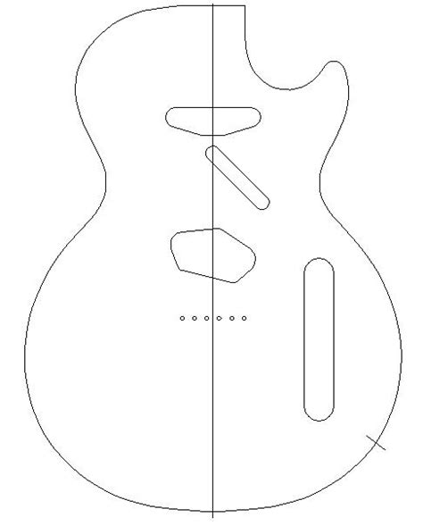 pin printable guitar template pdf page 2 telecaster forum