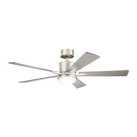 5 Light Ceiling Fan Shop Kichler Lighting Lucian 52 In Brushed Nickel Downrod Mount Indoor Ceiling Fan With Light