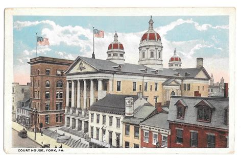 we buy houses york pa york pa court house cafaso anti pain advert on roof vintage 1921 postcard