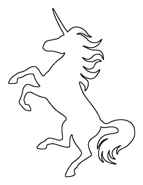 printable unicorn silhouette unicorn pattern use the printable outline for crafts