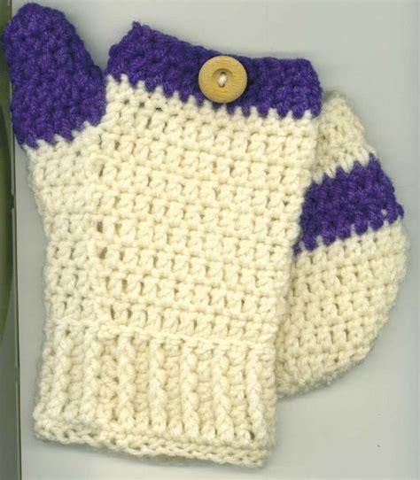 crochet pattern j hook open top mittens need worsted weight yarn in one or few