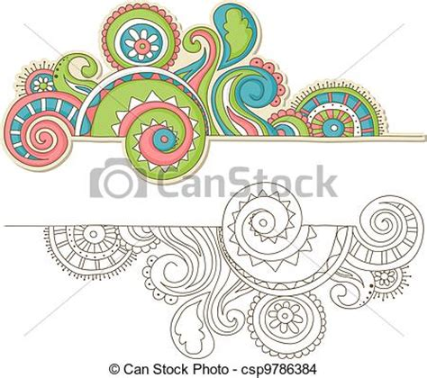 doodle version free eps vector of colorful doodle doodle outline and