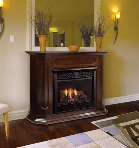 gas fireplaces ventless chesapeake 24 inch vent free gas fireplace remote ready with wall surround and hearth