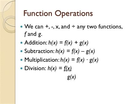 Operations On Functions Worksheet by 7 3 Power Functions And Function Operations