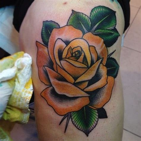 traditional yellow rose tattoo tulip for on yellow tattoos