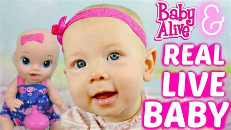 baby alive with real live baby babies playing baby play