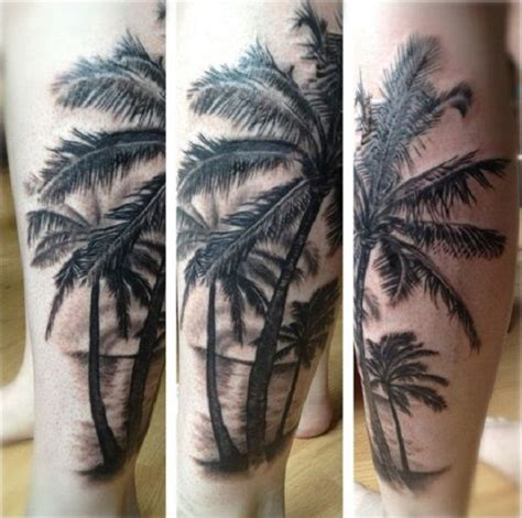 grayscale tattoo grayscale of palm trees beautiful and
