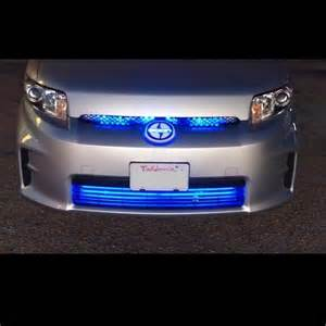 Led Light Strips For Cars Blue Led Grill Lighting Kit Neon Glow Strips Front Of Car Truck Vehicle Grille Ebay