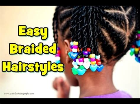 easy braided hairstyles for little black girls 2015 youtube