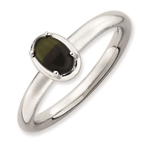 carinagems silver oval onyx ring