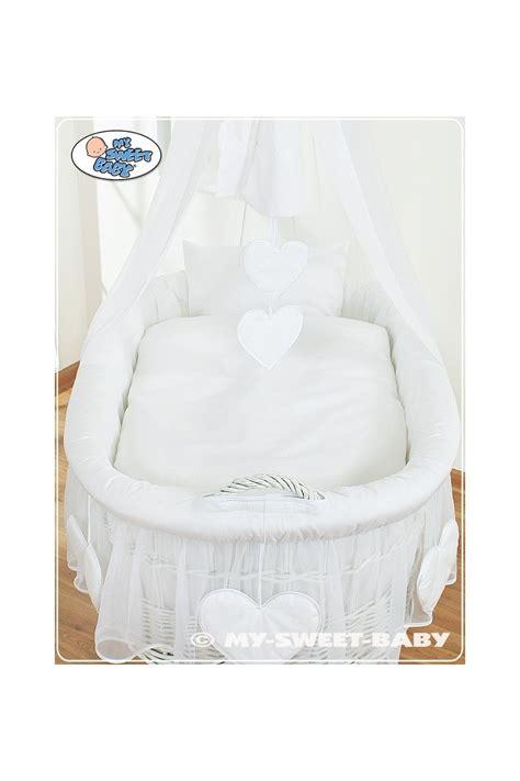 culla per neonato culla vimini neonato cuore bianco