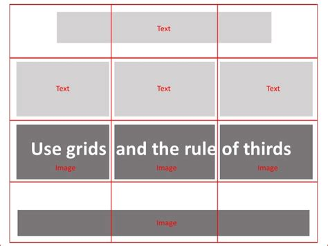 powerpoint layout grid principles of power point design working with layout grids