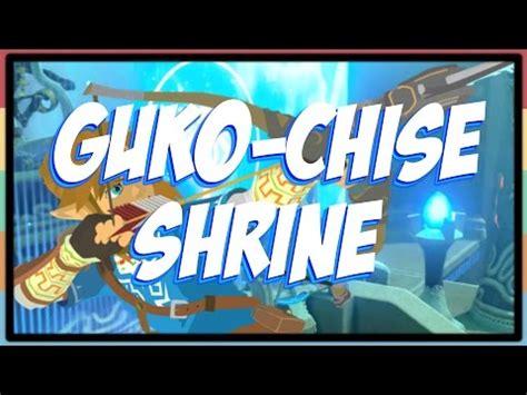 zelda botw : guko chise schrein (daqo chisay shrine) youtube