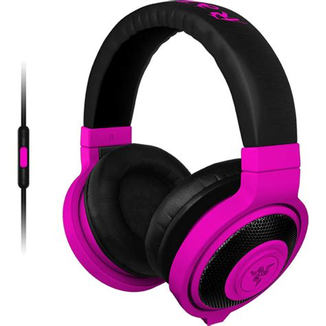 razer kraken mobile headphones neon purple rz04 01400500