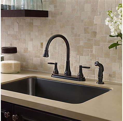 tuscan bronze glenfield 2 handle kitchen faucet f 036
