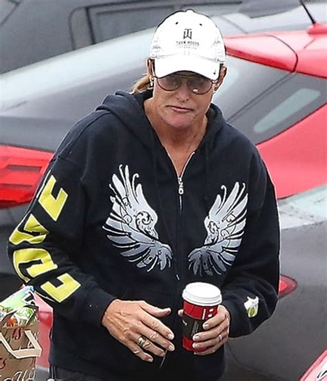bruce jenner makes style statement with nail polish long hair bruce jenner gets french manicure wears diamond earrings