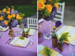 Purple Table Linens For Weddings - elegant lavender and yellow wedding ideas every last detail