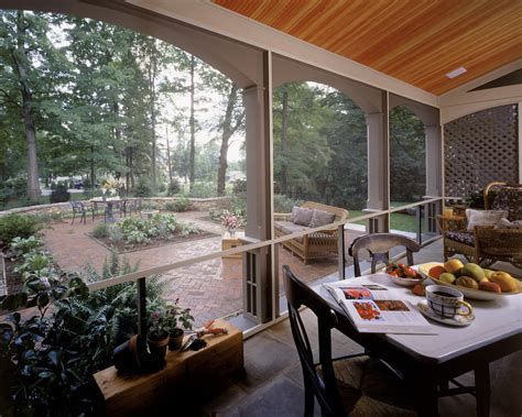 backyard porches patios screened in patio porch rustic with adirondack chairs area