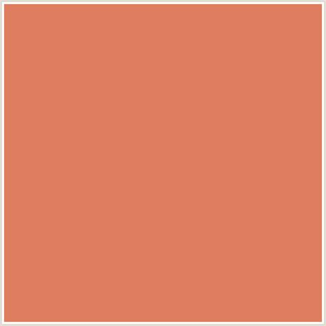 df7d60 hex color rgb 223 125 96 orange terracotta