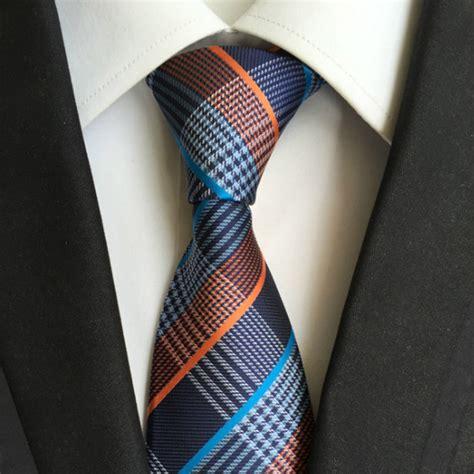 Handmade Tie - handmade tie multicolor cross stripe blanc touch of