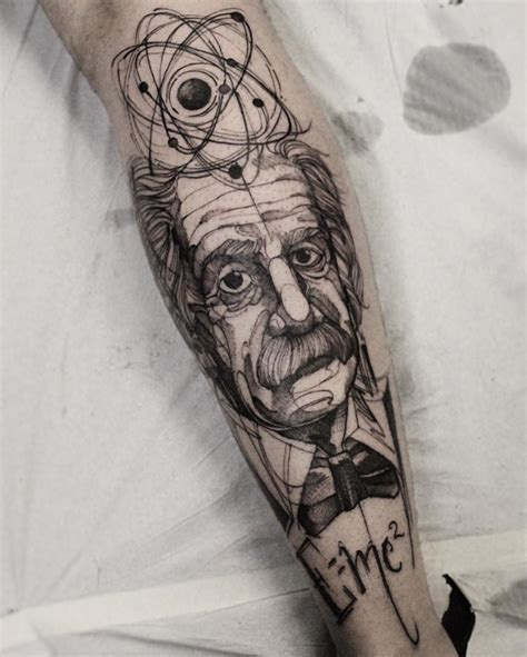 albert einstein tattoo 68 perfectly imperfect sketch style tattoos tattoomagz