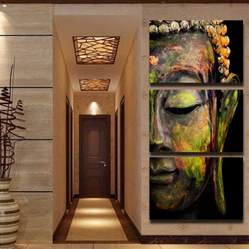 Canvas Painting For Home Decoration | buddha oil painting wall art paintings picture paiting