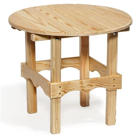 Amish Pine Wood Outdoor Side Table Outdoor Pine Furniture