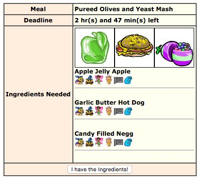 neopets kitchen quests log ingredients apple jelly apple