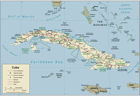 physical map of cuba maps of cuba map library maps of the world