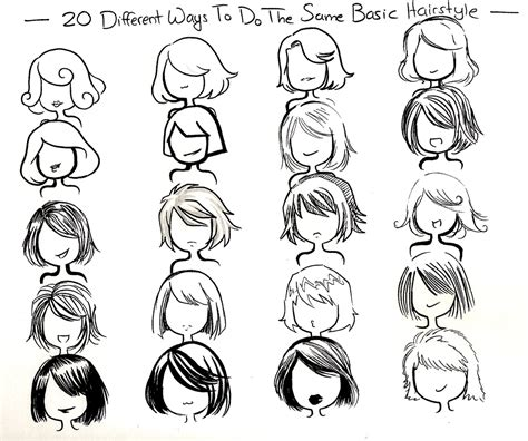 easy way to draw hairstyles twenty ways basic hairstyle by neongenesisevarei on