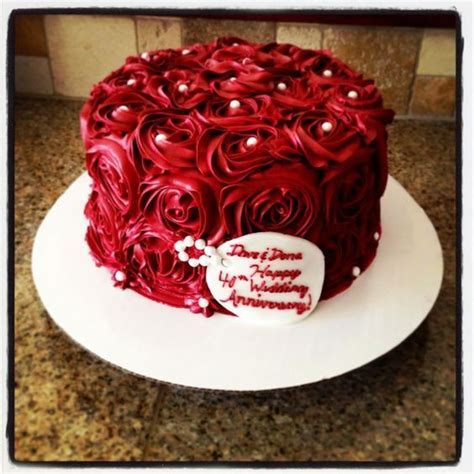 30 best Ruby Anniversary Cake Ideas images on Pinterest