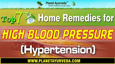 7 Home Remedies For High Blood Pressure by Top 7 Home Remedies For High Blood Pressure Hypertension