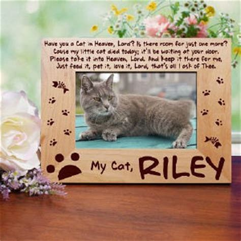pets in heaven gift for owners personalized cat memorial photo frame for pet loss